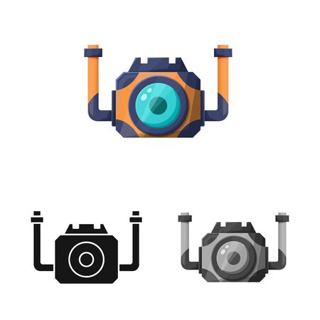 Isolated object of waterproof and camera icon. Web element of waterproof and camcorder vector icon for stock.