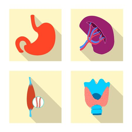 Isolated object of body and human symbol. Set of body and medical stock symbol for web. Ilustracja