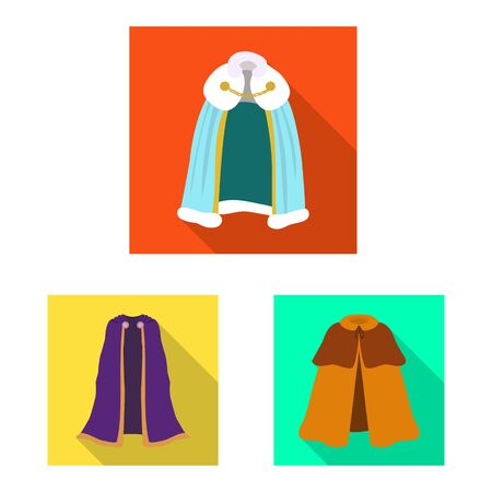 Vector illustration of material and clothing symbol. Collection of material and garment stock symbol for web. Ilustrace