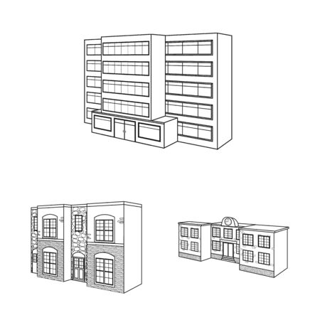 Isolated object of city and construction icon. Set of city and estate vector icon for stock. Banque d'images - 132413192