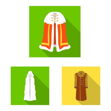 Isolated object of material and clothing  . Set of material and garment vector icon for stock.