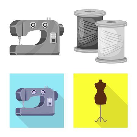 Vector illustration of craft and handcraft symbol. Collection of craft and industry vector icon for stock. Illustration