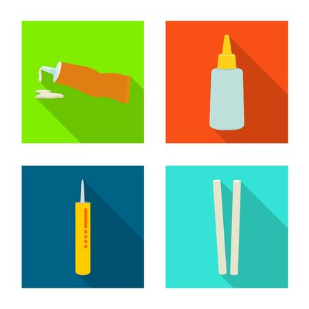 Isolated object of equipment and stickies. equipment and fixing vector icon for stock.
