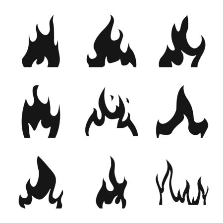 Isolated object of blazing and wildfire logo. Set of blazing and red vector icon for stock.
