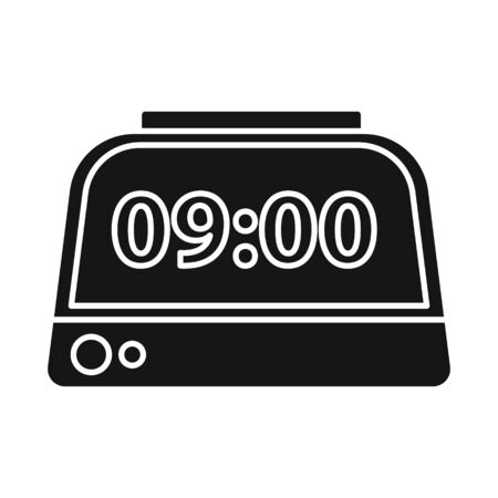 Vector design of clock and timer sign. Graphic of clock and alarm vector icon for stock.