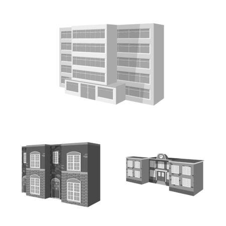 Vector design of architecture and estate icon. Collection of architecture and housing stock vector illustration.