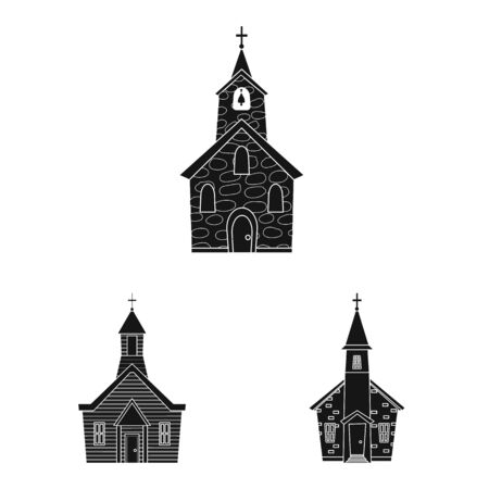 Vector design of house and parish icon. Collection of house and building vector icon for stock.