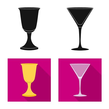 Vector design of form and celebration icon. Set of form and volume stock symbol for web.  イラスト・ベクター素材