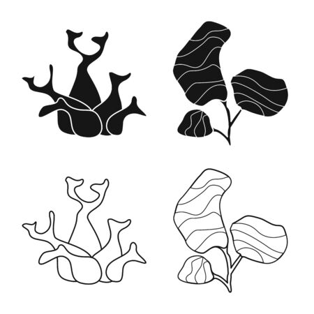 Vector illustration of biodiversity and nature symbol. Set of biodiversity and wildlife vector icon for stock. Illustration