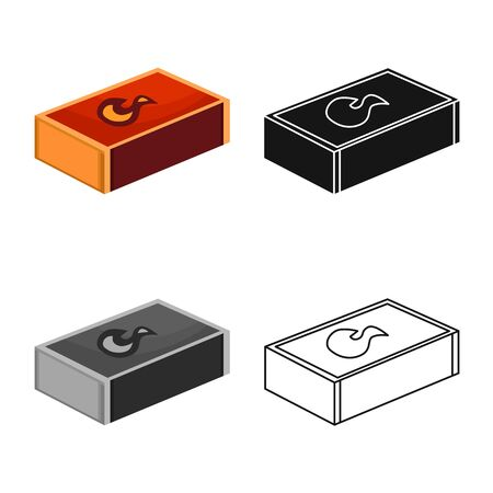 Vector illustration of matchbox and box icon. Web element of matchbox and household vector icon for stock.