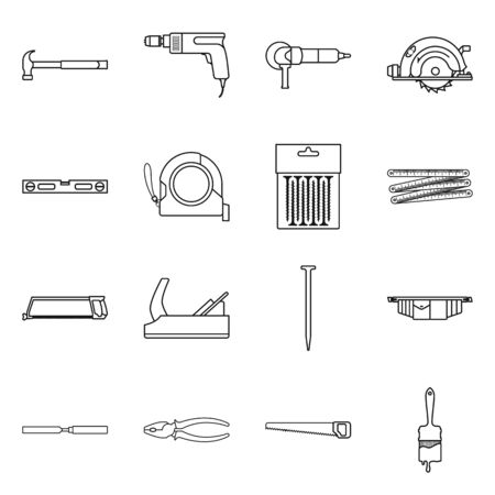 Vector illustration of repair and build symbol. Set of repair and service stock vector illustration.