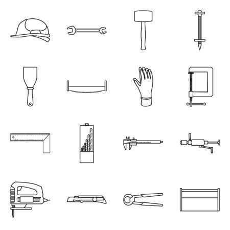 Vector design of repair and toolbox icon. Set of repair and renovation vector icon for stock.
