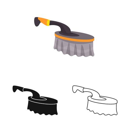 Vector design of brush and bristle icon. Web element of brush and equipment stock vector illustration. 일러스트