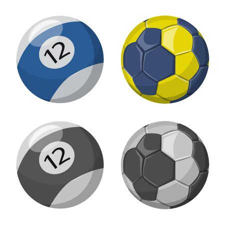 Isolated object of sport and ball icon. Set of sport and athletic vector icon for stock.