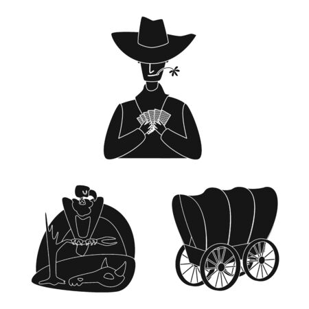 Isolated object of danger and culture. Collection of danger and west vector icon for stock. Vectores