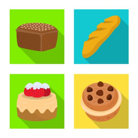 Isolated object of bakery and natural icon. Collection of bakery and business stock symbol for web.