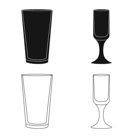 Vector illustration of form and celebration icon. Collection of form and volume stock vector illustration.