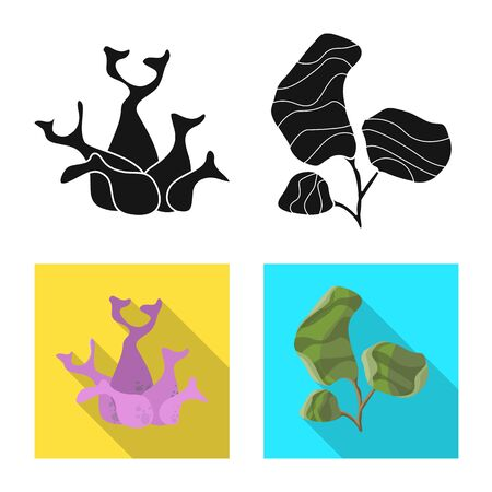 Vector illustration of biodiversity and nature icon. Collection of biodiversity and wildlife vector icon for stock.