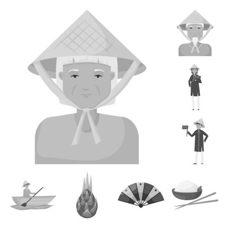 Vector design of culture and landmark icon. Collection of culture and asia stock vector illustration. Banque d'images - 132794318