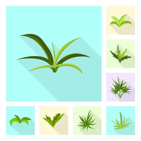 Vector illustration of landscaping and summer. Collection of landscaping and environment vector icon for stock.