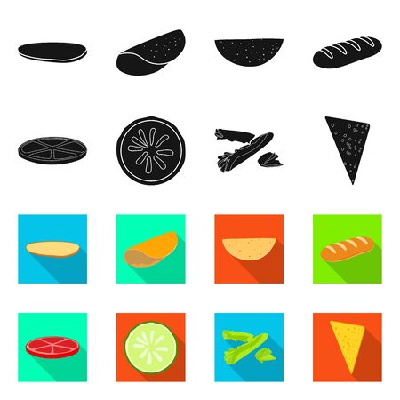 Isolated object of cooking and dinner symbol. Set of cooking and fast vector icon for stock. 일러스트