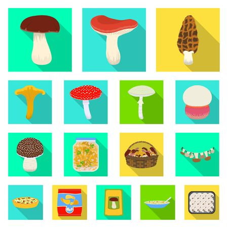 Vector design of raw and summer icon. Collection of raw and ingredient stock symbol for web. Ilustração