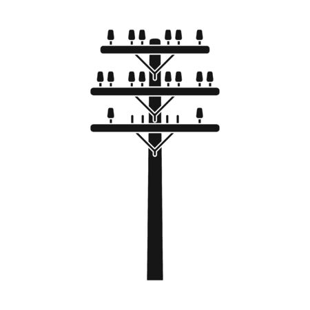 Vector design of pillar and wooden. Graphic of pillar and electrical stock vector illustration.