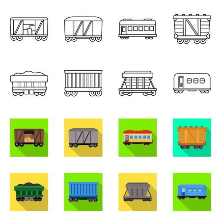 Vector illustration of logistics and industrial icon. Set of logistics and transport vector icon for stock. Illustration