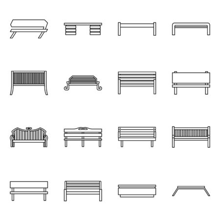 Isolated object of equipment and chair icon. Set of equipment and street stock vector illustration. Vektoros illusztráció