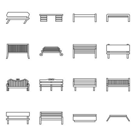 Isoliertes Objekt der Ausrüstung und des Stuhlsymbols. Satz Ausrüstung und Straßenvorrat-Vektorillustration. Vektorgrafik