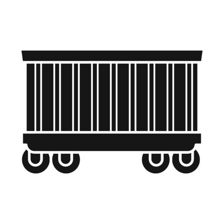 Vector design of wagon and container logo. Graphic of wagon and boxcar stock vector illustration.