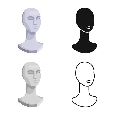Vector design of dummy and bust icon. Graphic of dummy and female stock symbol for web.