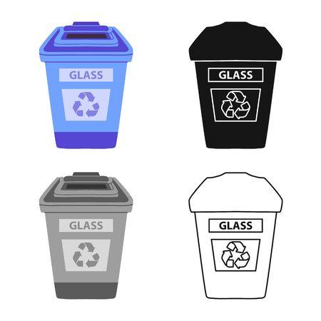 Vektor-Illustration von Mülleimer und Müll Logo. Webelement der Mülltonne und des Glasvektorsymbols für Lager.
