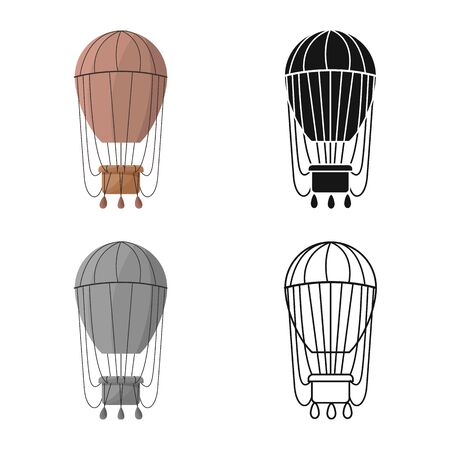 Vector design of air and balloon symbol. Web element of air and airship vector icon for stock.