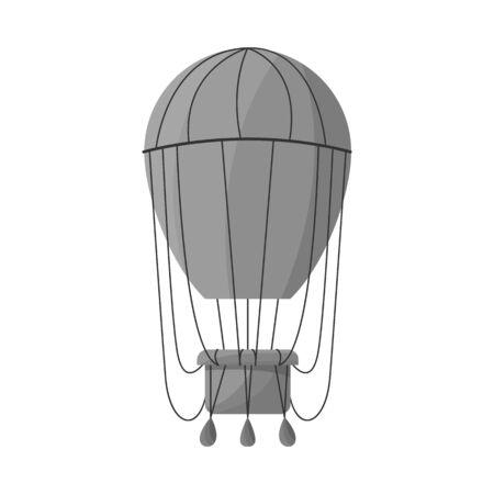 Vector illustration of air and balloon logo. Graphic of air and airship stock vector illustration.