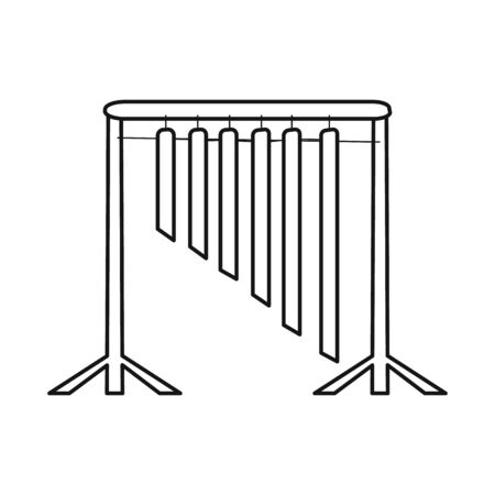 Vector design of musical and vietnam symbol. Set of musical and instrument stock symbol for web.
