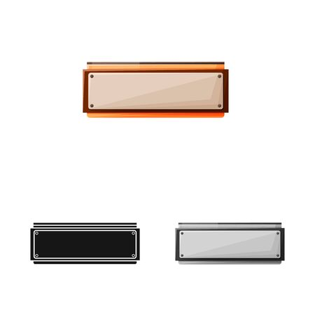 Vector illustration of harmonica and mouth logo. Graphic of harmonica and metal stock symbol for web.