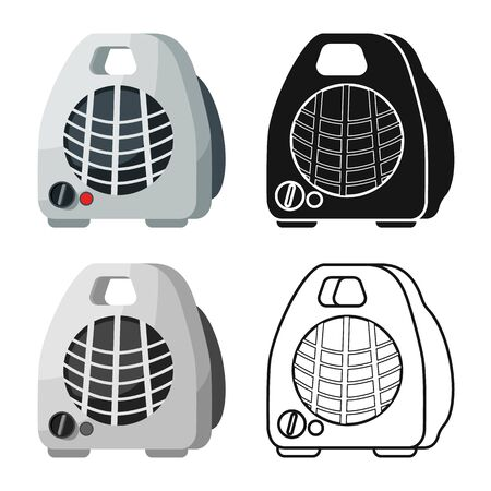 Vector illustration of heater and portable symbol. Graphic of heater and room stock vector illustration.