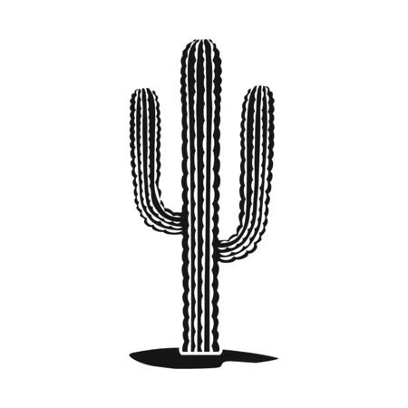 Vector design of cactus and houseplant icon. Web element of cactus and succulent stock vector illustration. Çizim