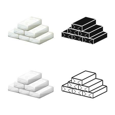 Disegno vettoriale di cocaina e simbolo della borsa. Elemento Web di cocaina e polvere illustrazione vettoriali stock.