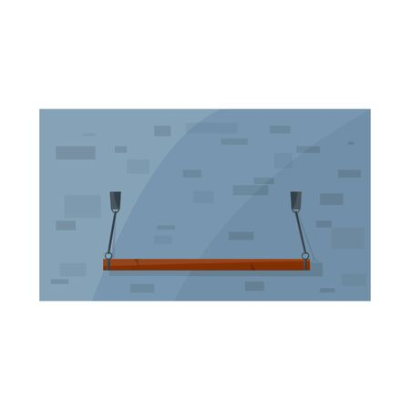 Vector design of plank-bed and bed sign. Graphic of plank-bed and bunk stock symbol for web.