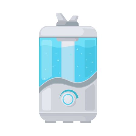Vector illustration of humidifier and machine symbol. Web element of humidifier and moisturizer vector icon for stock.