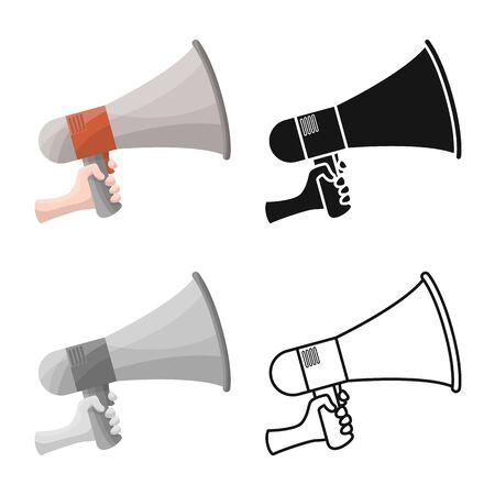 Vector illustration of megaphone and speaker symbol. Web element of megaphone and loudspeaker stock vector illustration.