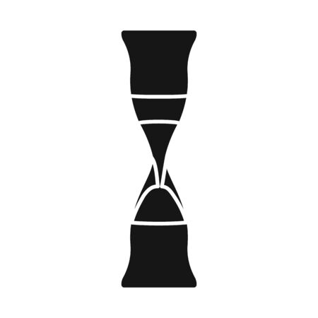Vector illustration of sandglass and trustworthy sign. Graphic of sandglass and clock vector icon for stock. Çizim