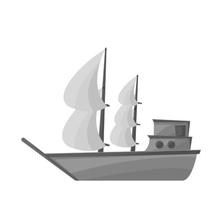 Isolated object of ship and old icon. Graphic of ship and boat stock symbol for web.