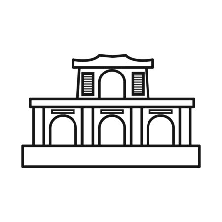 Isolated object of building and vietnam logo. Collection of building and architecture stock symbol for web.