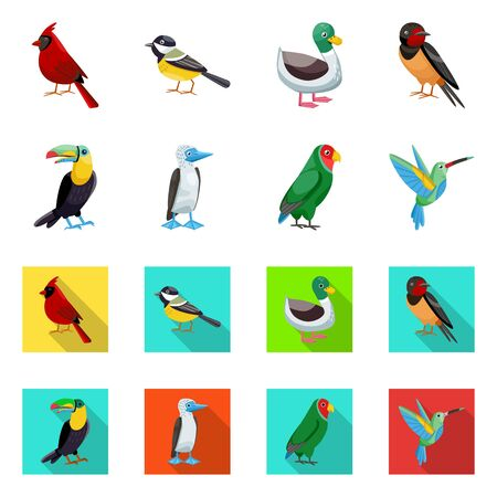 Vector design of animal and wild sign. Collection of animal and natural vector icon for stock.