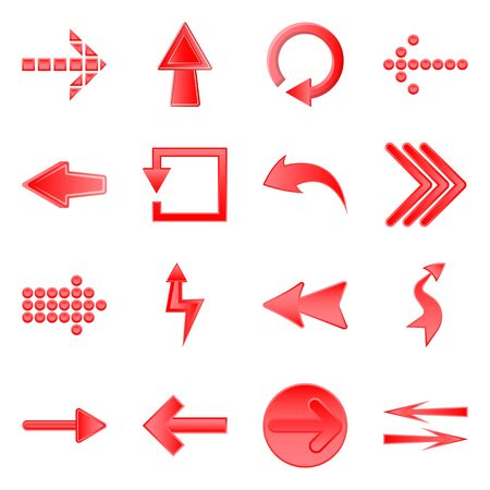 Vector design of element and arrow icon. Collection of element and direction stock symbol for web. Ilustrace
