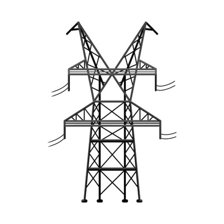 Vector illustration of electrical and station symbol. Web element of electrical and pillar stock vector illustration. Vector Illustration