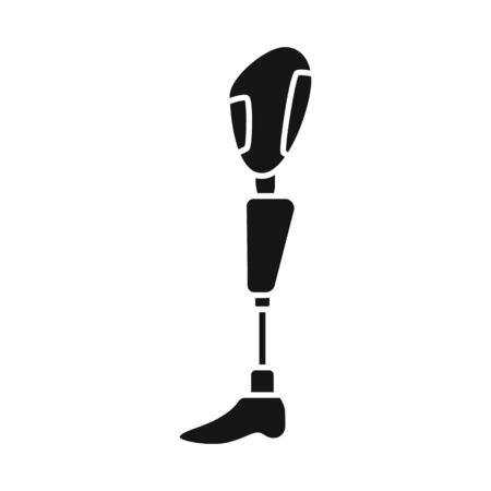 Vector illustration of leg and prosthesis icon. Web element of leg and amputation vector icon for stock.